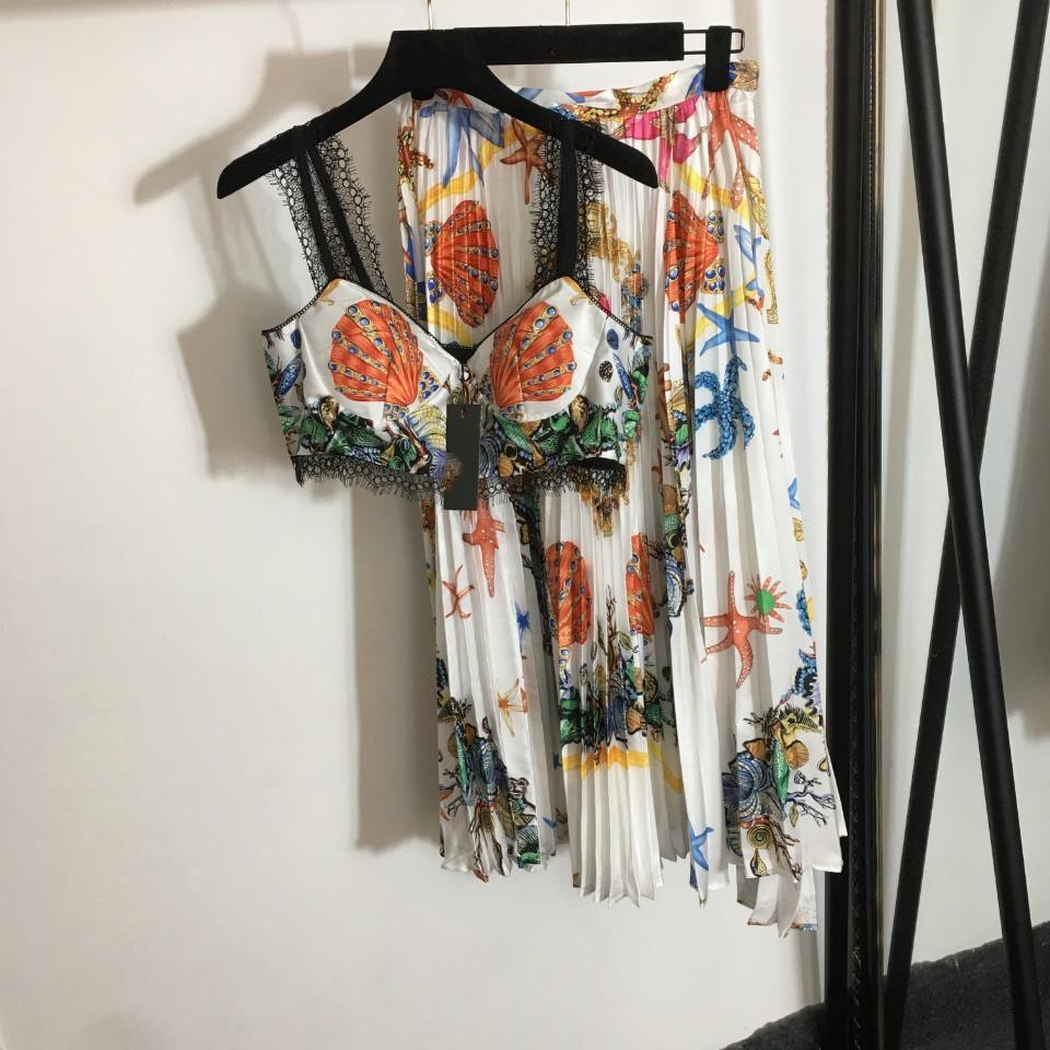 2021 O Boyun Kolsuz Ceket ve Bayan Moda Baskı Iki Parçalı Elbise 2 Parça Setleri 0526-32