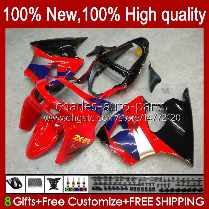 Moto Body For KAWASAKI NINJA ZX-6R 600CC ZX-636 ZX600 1998-1999 Bodywork 16No.1 ZX 636 600 C CC 6 R 6R ZX6R 98 99 ZX-600 ZX600CC ZX636 1998 1999 Fairing Kit factory red