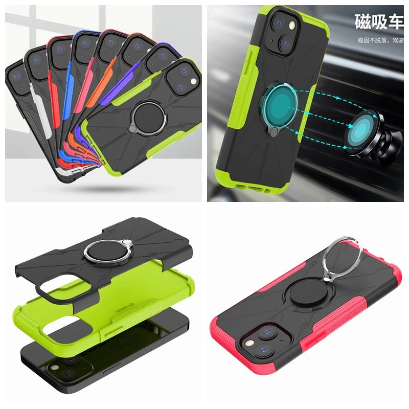 Casos de la capa Hybird de Hybird para iPhone 13 Pro Max Mini 2021 12 11 x XR XS PC Hard TPU defensor Combo Doual a prueba de golpes Apoyo Magnético Cubierta de teléfono de montaje