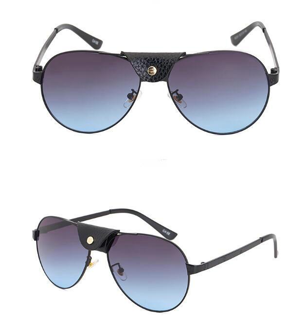 2021 Ny stil solglasögon män mode läder wrap solglasögon gratis frakt solglasögon 6Colors google glasögon.