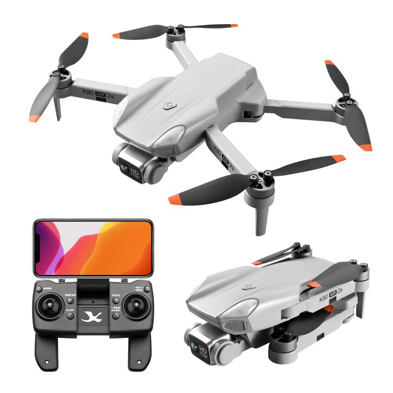 GPS التحكم عن بعد K80Air2S 5G WIFI 4K الكاميرات المزدوجة الطي الطي الطي الطي الطائرات UAV الهوائية عالية الوضوح كاميرا أربعة محور