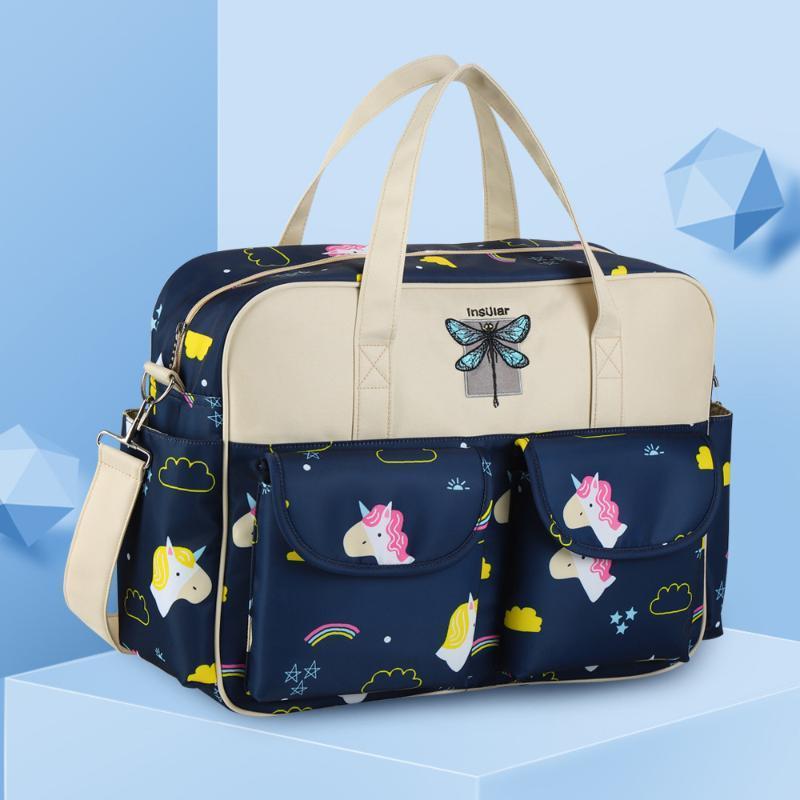 أكياس حفاضات الأمومة الطفل حقيبة للأطفال منظم موم التمريض مومياء الأزياء متعددة الوظائف طباعة حقيبة الظهر