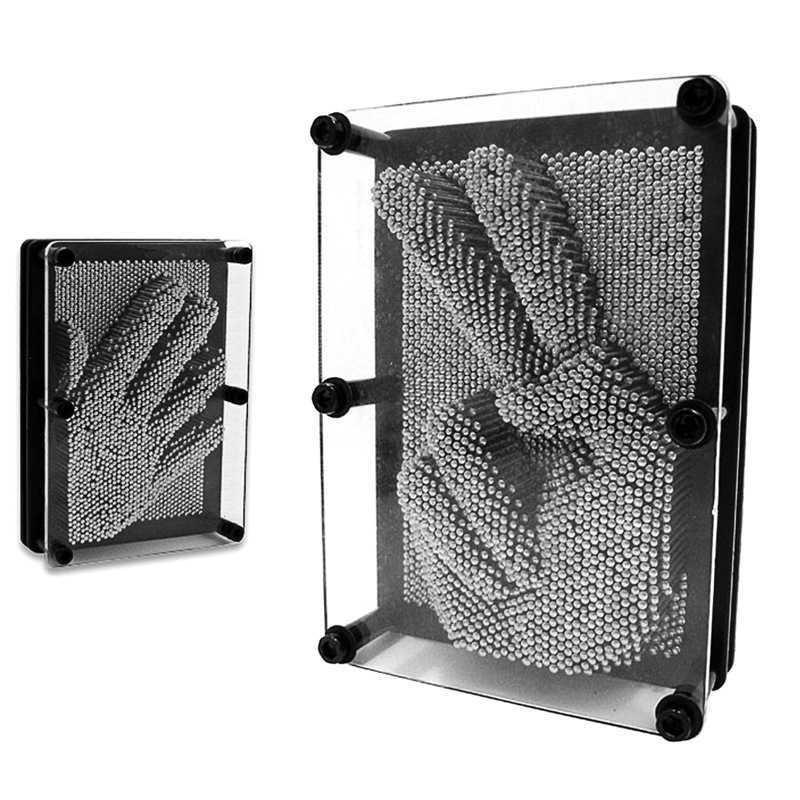 3D Pin Art Metal Pinart Figürinler Minyatürleri Klon Şekli Shoumo İğne Oyma Çocuk Yüz Palm Modeli Masa Ofis Ev Dekor Alın