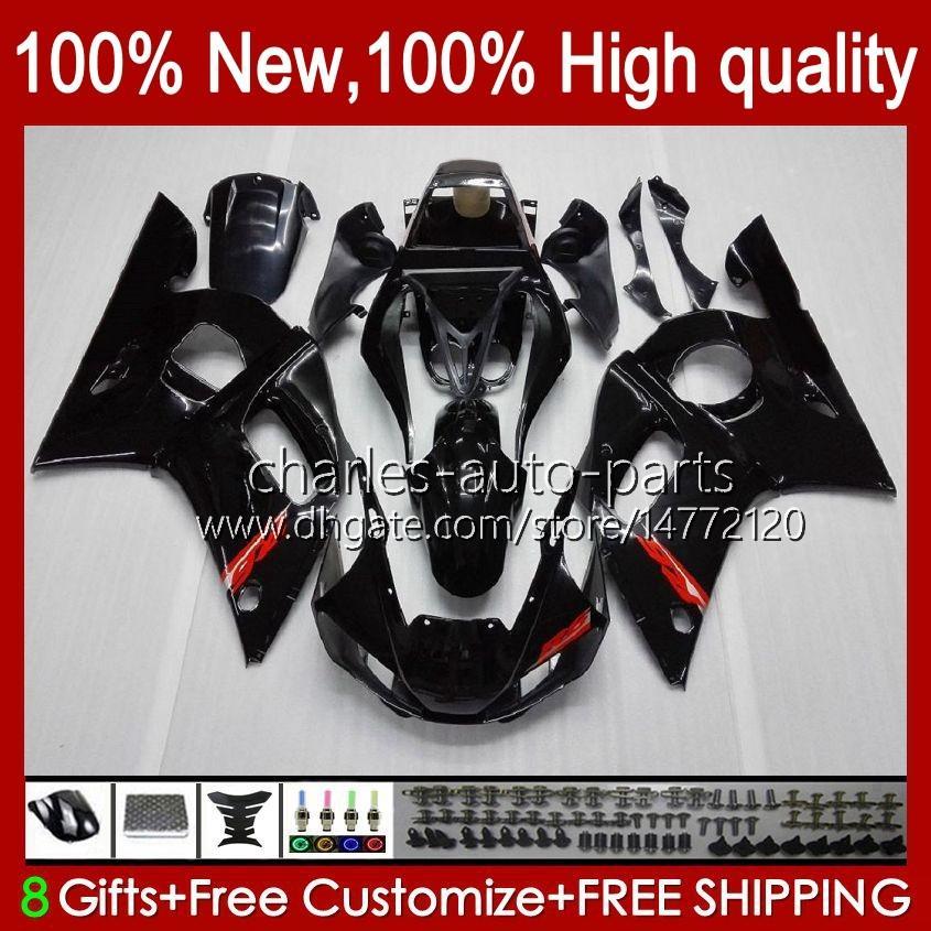 ヤマハYZF600光沢のある黒のYZF-600 600CC YZF-R6 YZF R 6 R6 58HC.1 YZF 600 YZFR6 98 99 00 01 02 1998 1999 2000 2000 2002フェアリング