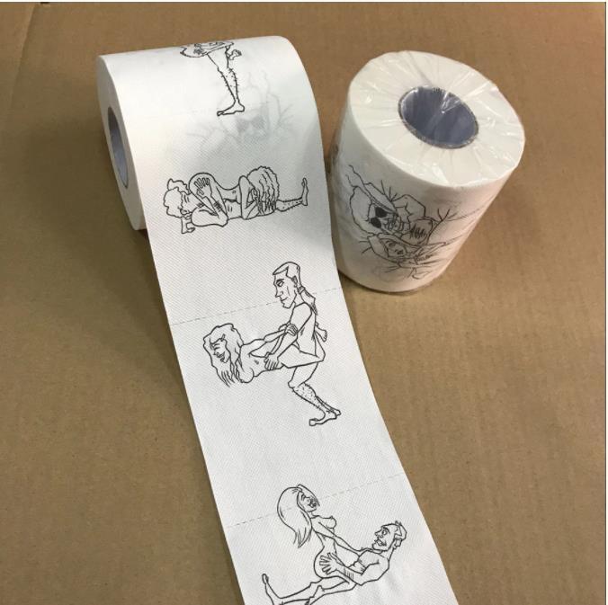 حار سوبر مضحك نكتة ورقة المناشف المرحاض ورقة السائبة رولز الحمام الأنسجة لينة 3ply شحن مجاني