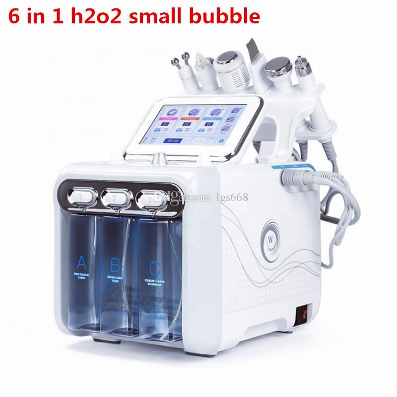 الأسهم في الولايات المتحدة الأمريكية متعددة الوظائف 6in1 h2o2 آلة فقاعة صغيرة مطحنة المياه الجلد الأكسجين الوجه الجمال العناية بالبشرة الجمال أداة FDA