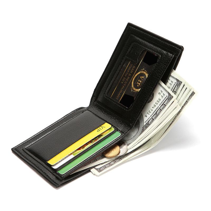 PU Deri Vintage Erkekler Cüzdan Kısa Cüzdan Erkek Çok Fonksiyonlu Çanta Sikke Pocket KIMLIK Kart Fotoğraf Tutucu Ince Cüzdan