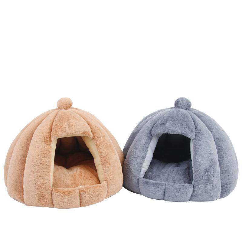 Chat lits meubles mignon animal de compagnie lit chien maison chaude douce amovible kennel nid panier drôle de fruit citrouille pour tente