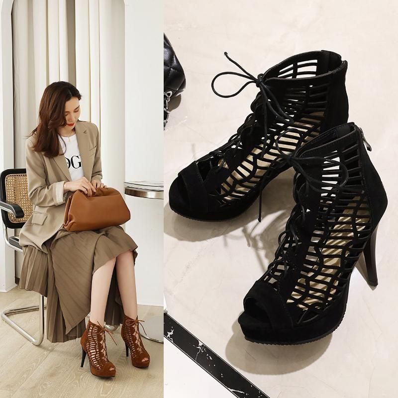Sandals Summer Women Shoes 2021 High Heels Fashion Open Toe Zapatos De Mujer Big Size 34-48