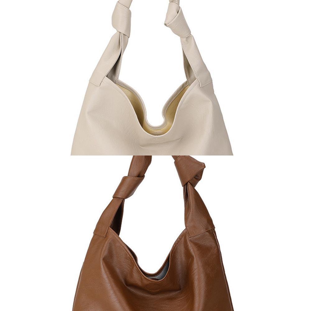 Vintage Tote Women Shoulder Bags Designer Strap Handbags Luxury Soft Solid Color Crossbody Bag Casual Large Capacity Hobo Purses C0308
