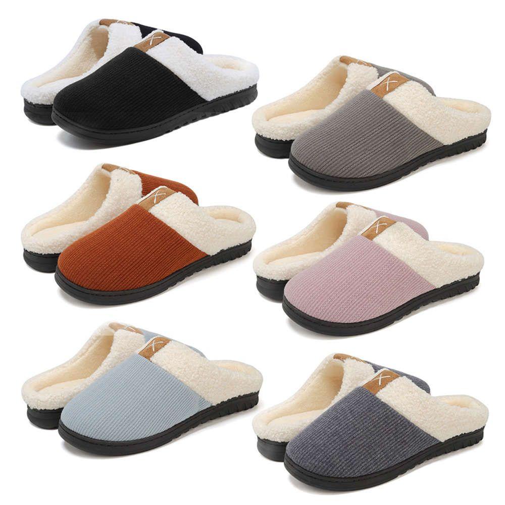Sonbahar kış bellek sünger kalınlaşmış pamuk terlik erkek ve kadın kapalı sıcak ev ayakkabıları