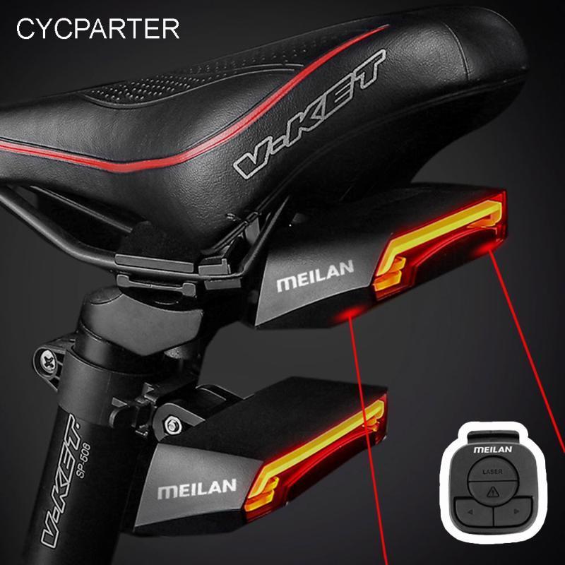 MEILAN X5 Smart Bike Hait Light Hurn Chorts сигналы автоматического тормозного света беспроводной USB дистанционного управления задним сигналом предохранительных сигналов