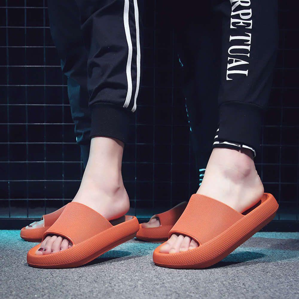 Yeni Avrupa çiftin kalın soled açık sandal tutucu düz sürükle toe lastik plaj terlik kadın ayakkabı moda