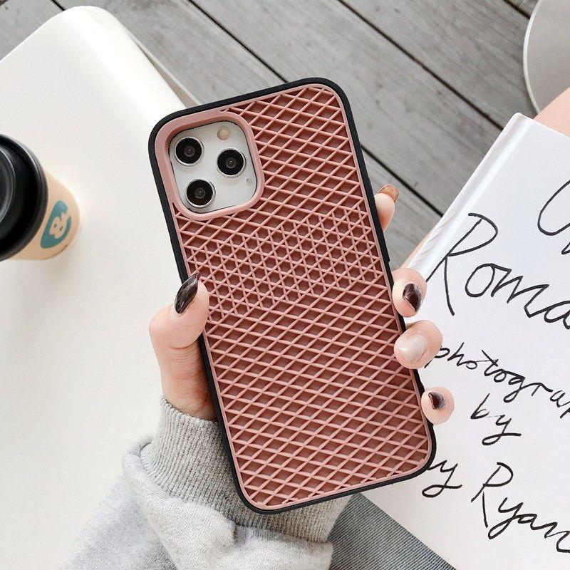 상위 패션 디자이너 전화 케이스 아이폰 11 12 프로 최대 7 8Plus XS XR XSMAX 고품질 실리콘 스니커즈 핸드폰 커버와 삼성 A71 S20 S10 NOTE20 NOTE10 플러스