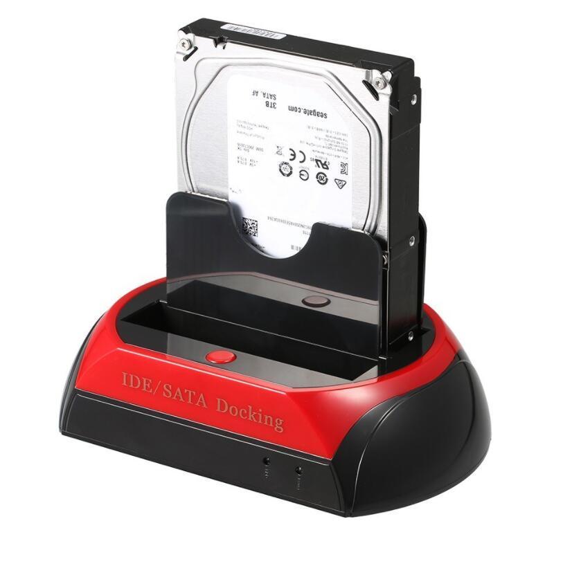 모두 하나의 2.5 3.5 인치 HDD 도킹 스테이션 ESATA IDE SATA 하드 디스크 OTB 백업 도크 카드 리더기