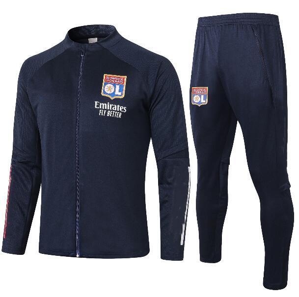 2021 Maillot de pé Olympique Lyonnais Lyon Futebol Jersey Jacket 20 21 Maillot de Lyon Camisa de Futebol Traore Memphis Ol Lyon Jersey Treinando Clo