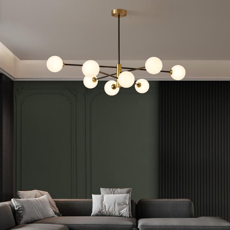 Nordic Gold Kupfer LED Glanzglas Kugel Hängen Lampe Dekoration Room Küche Beleuchtung Innenlampen 51ax