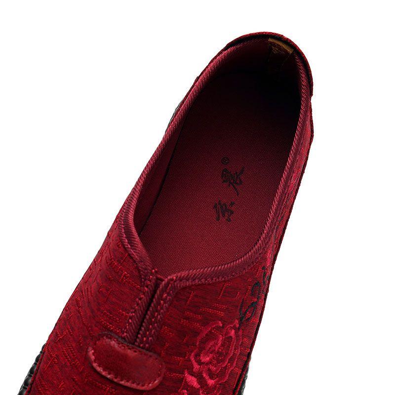 Özerklik Marka Kadın Işlemeli Ayakkabı Kırmızı Boyutu 34 En Kaliteli Spor Ayakkabı Düşük Kesilmiş Nefes Pedal Rahat Ayakkabılar