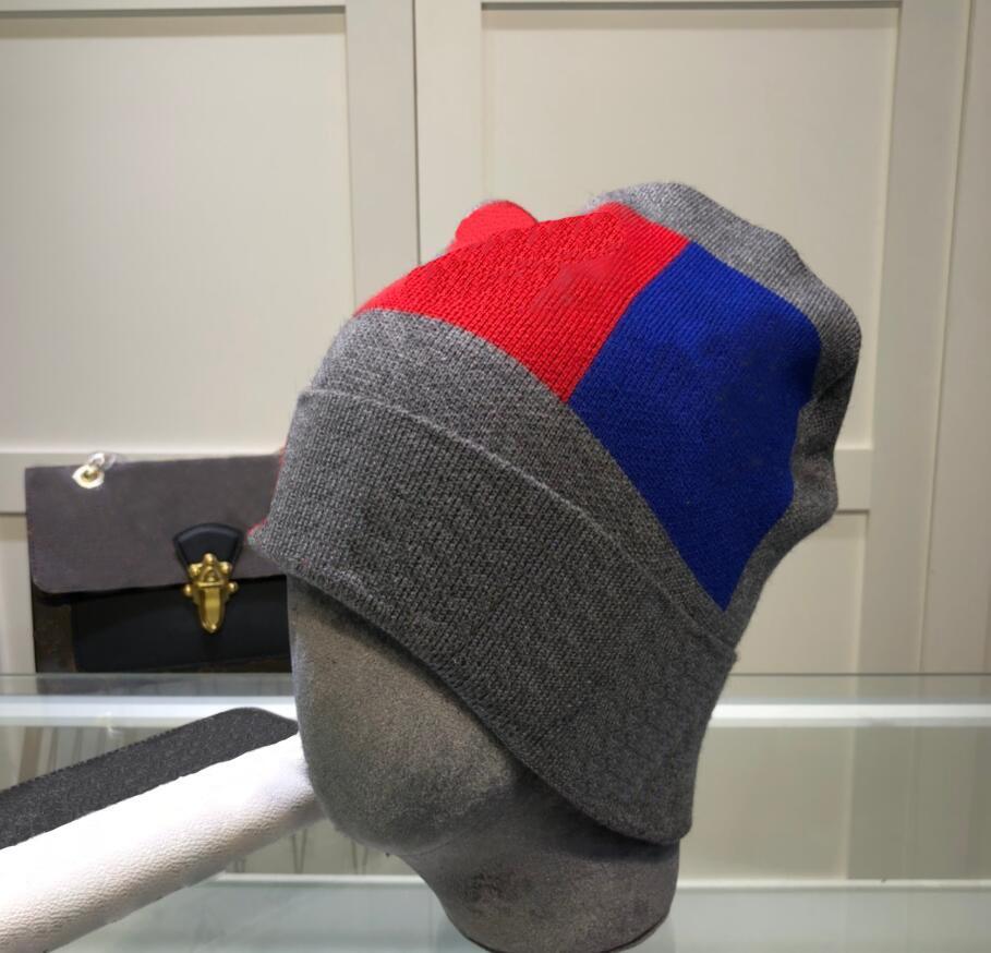 Chapeaux de seau d'hiver pour hommes Femmes Femmes Mode Capuchon en tricot géométrique Lettres broderie Coton Bonnet Bonnet Bonnet Bonnet Hip hop doublé Bonnet chapeau