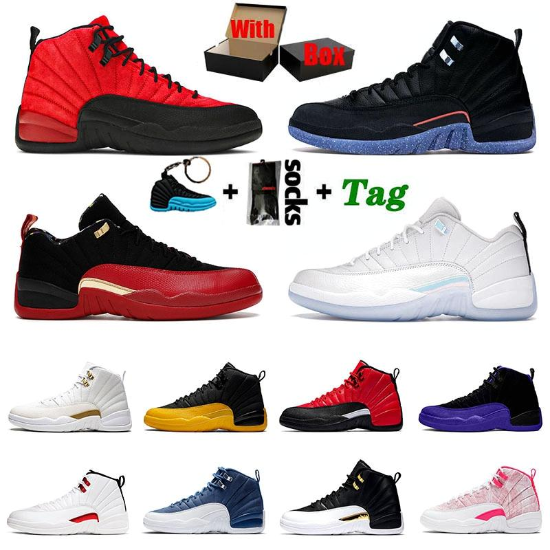 With Original Box Jumpman 12 12s Basketball Shoes Men Low Easter XII High Utility Flu Game FIBA University Gold Gym red Michigan Mens Womens Sports Sneakers Trainers