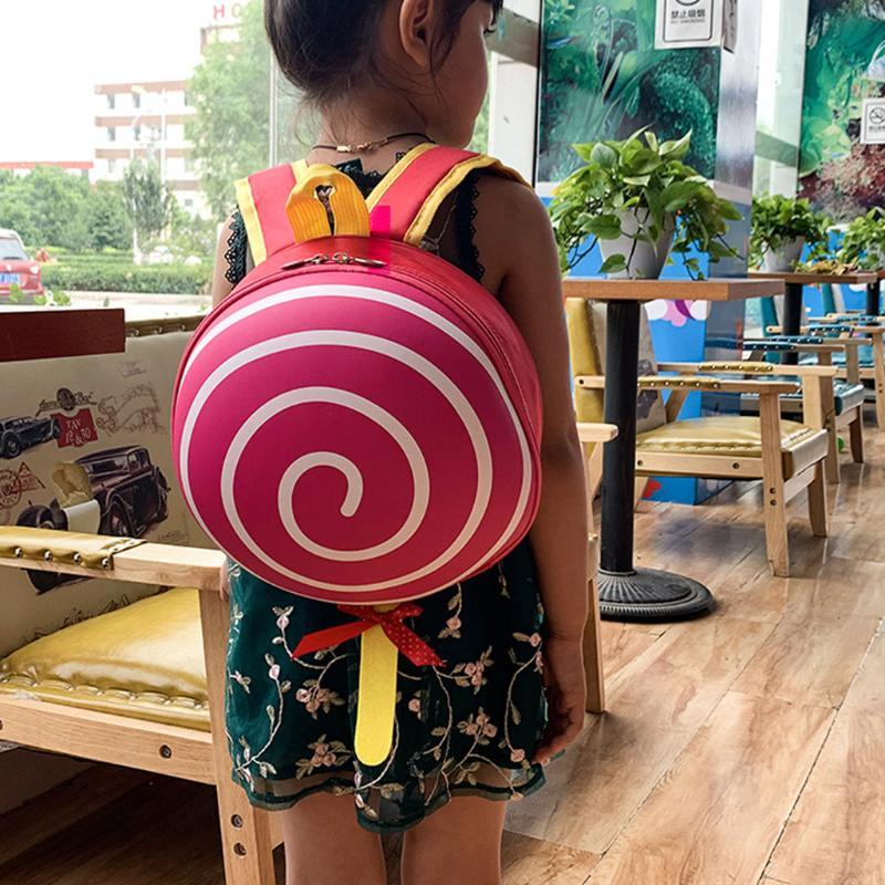 Borsa da scuola Zaini Brand Design Bambino Moda Simple Zipper Nylon Studente Zaino Bambini Lollipop Kindergarten