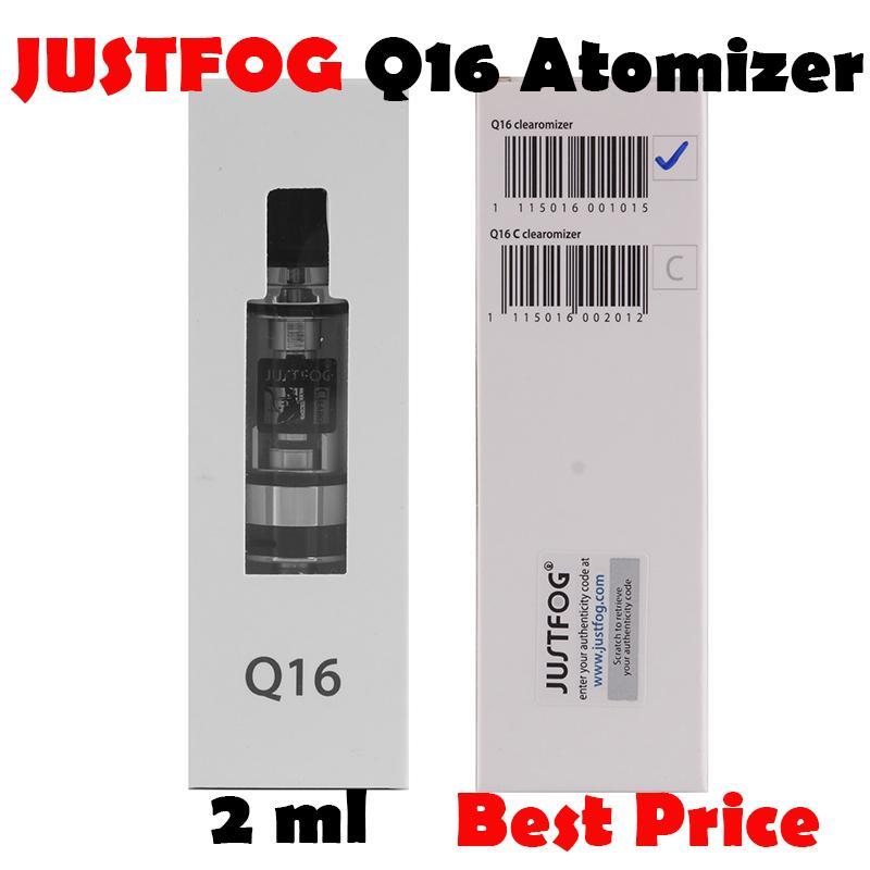 2021 JustFog Q16 Clearomizer 1.9ml tank atomizer J-Easy 9 pil veya kiti için uygun