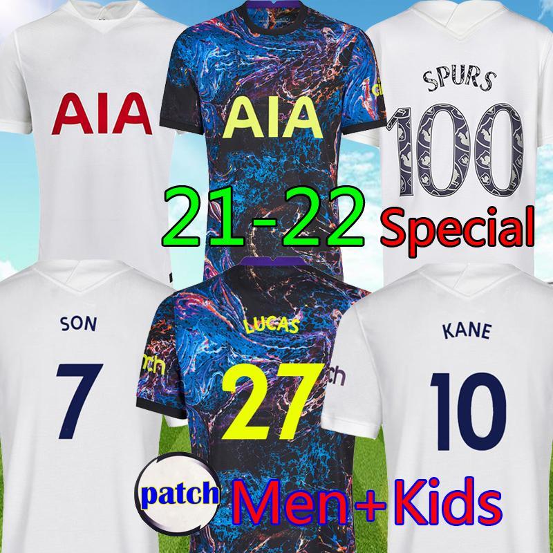 21 22 Dele Son Tottenham Hotspur Kane Top Soccer Jersey Hojbjerg Bergwijn Lo Celso Spurs 2021 2022 Lucas Kits Football Shirt ...