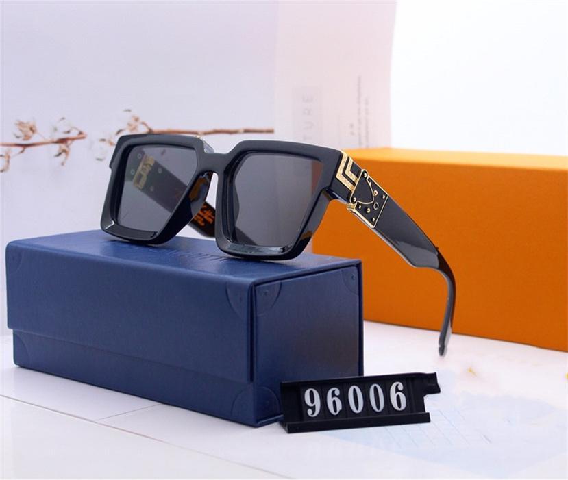 Luxo Milionários Su NGlasses Mens Designer Sunglasses 96006 Marca Óculos de Sol Moda UV400 Óculos de Sol para Mens Verão Condução de Vidro
