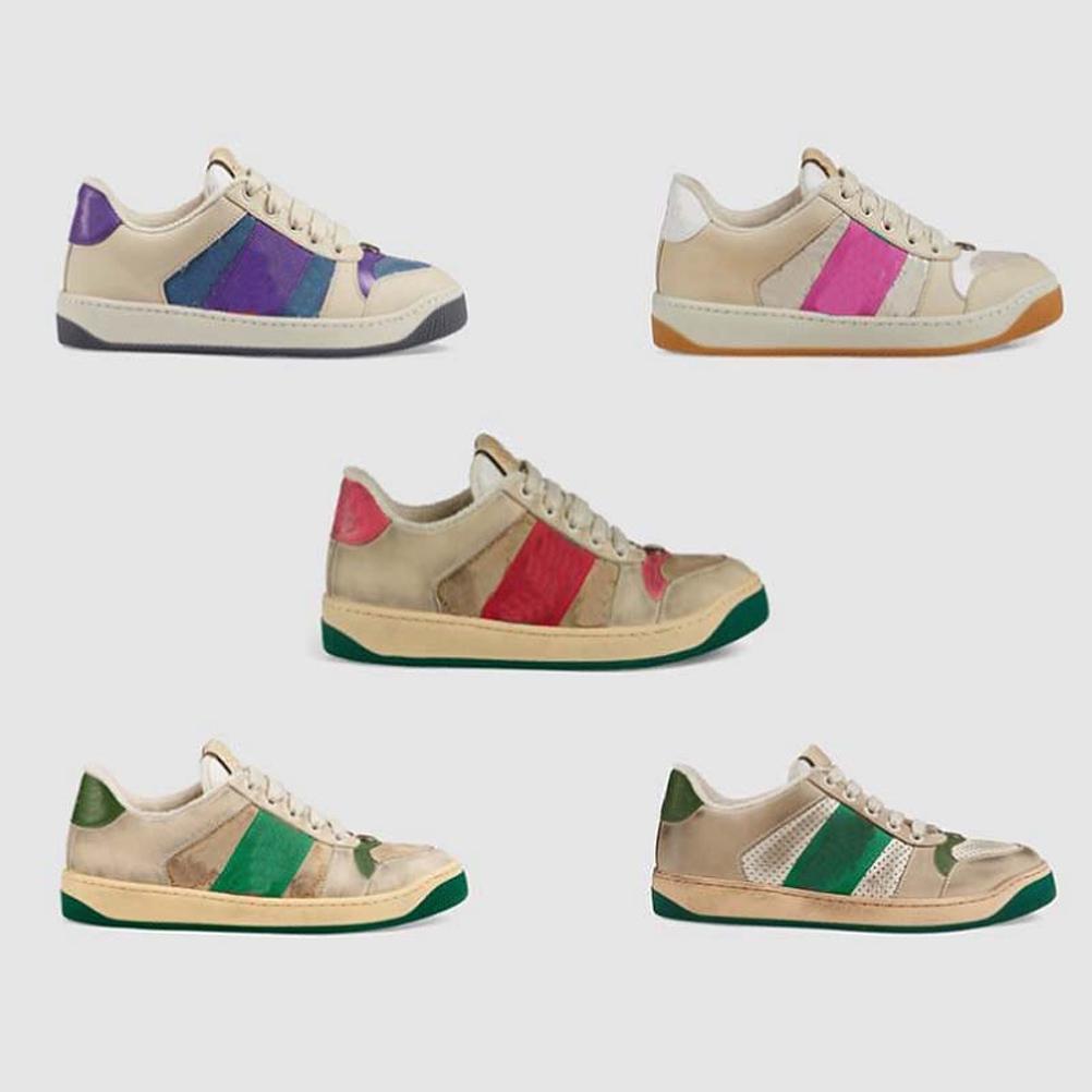 2021 Hohe Qualität Kurze Gang Freizeitschuhe Sneakers Trainer Streifen Schuh Mode Casual Schuhe Trainer für Mann Frau Wunschkiste 06