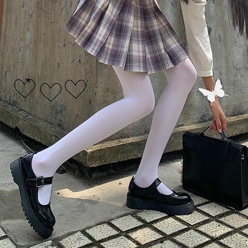 Носки Hosiery Белые колготки 2021 Lolita Школьница Теплые бархатные чулки Очаровательны Kawaii Student Cosplay бедра высокие колготки партии клуб W
