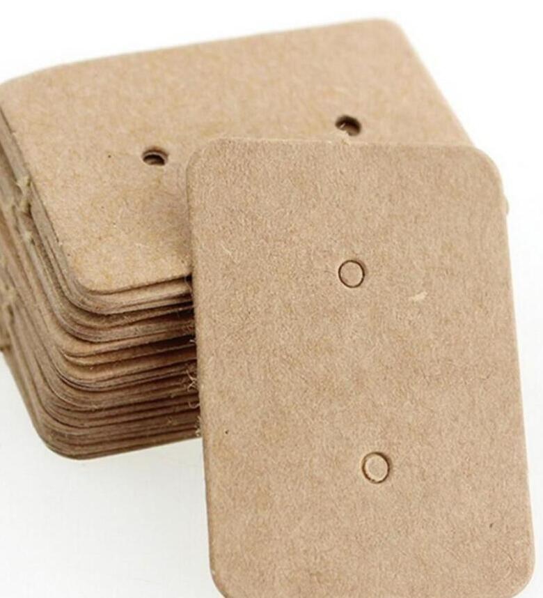 크래프트 종이 귀걸이 카드 귀 스터드 디스플레이 태그 레이블 보석 디스플레이 카드 크래프트 사각형 귀걸이 태그 카드 25 * 35mm