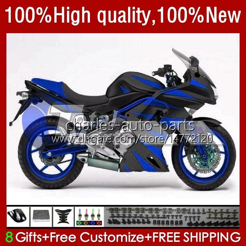 OEM KAYWORK FÖR KAWASAKI NINJA ER 6 F 2006-2008 ER6 F 650 R 650R 06-08 BODY 6NO.25 650R-ER6F ER-6F ER 6F 2006 2007 2008 650-R ER6F 06 07 08 Motorcykel Fairings Glossy Blue