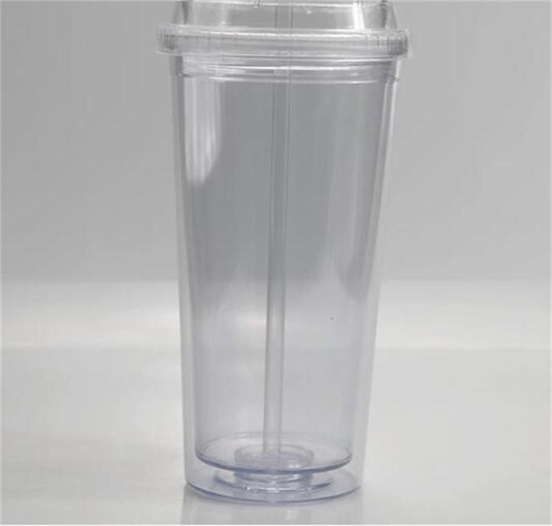 20 أوقية واضح قش بهلوان في الهواء الطلق مع زجاجة الشرب مزدوجة الاكريليك غطاء قبة جدار البلاستيك تسرب مقاوم للماء المياه 2059 v2