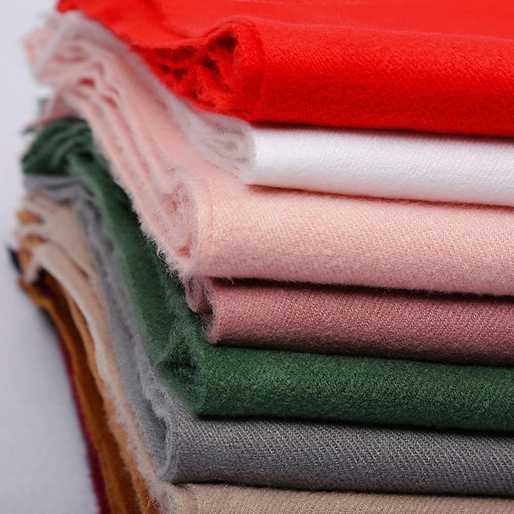 250 g de un solo color Mantón térmico Cuello de borla Otoño e invierno Cashmere Like Scarf Company Reunión Anual Actividad Regalo
