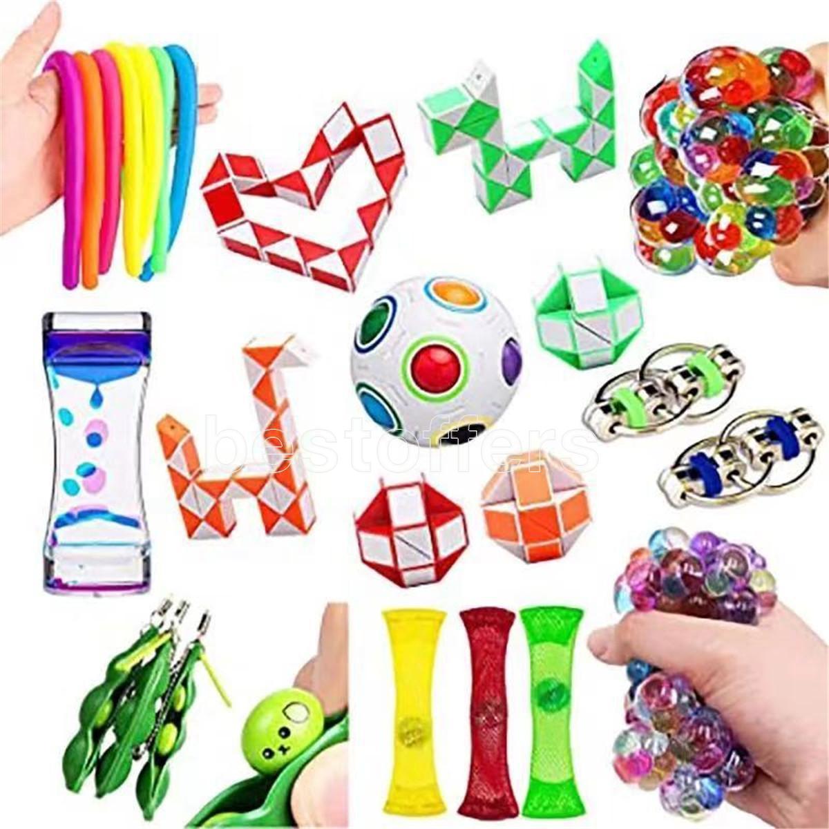 Juego de juguetes sensoriales de barcos rápidos, alivia el estrés y la ansiedad Fidget Toy para los niños adultos, el surtido de juguetes especiales para los favores de la fiesta de cumpleaños