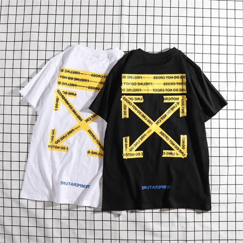 CORDON Летняя стрелка Оу с коротким рукавом Футболка женская марка хлопчатобумажная мужская футболка