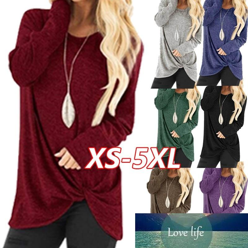 Cotton Plus Size Blouse Autumn and Winter Women Casual Shirts Round Neck Long Sleeve T-Shirts Tops XS-5XL