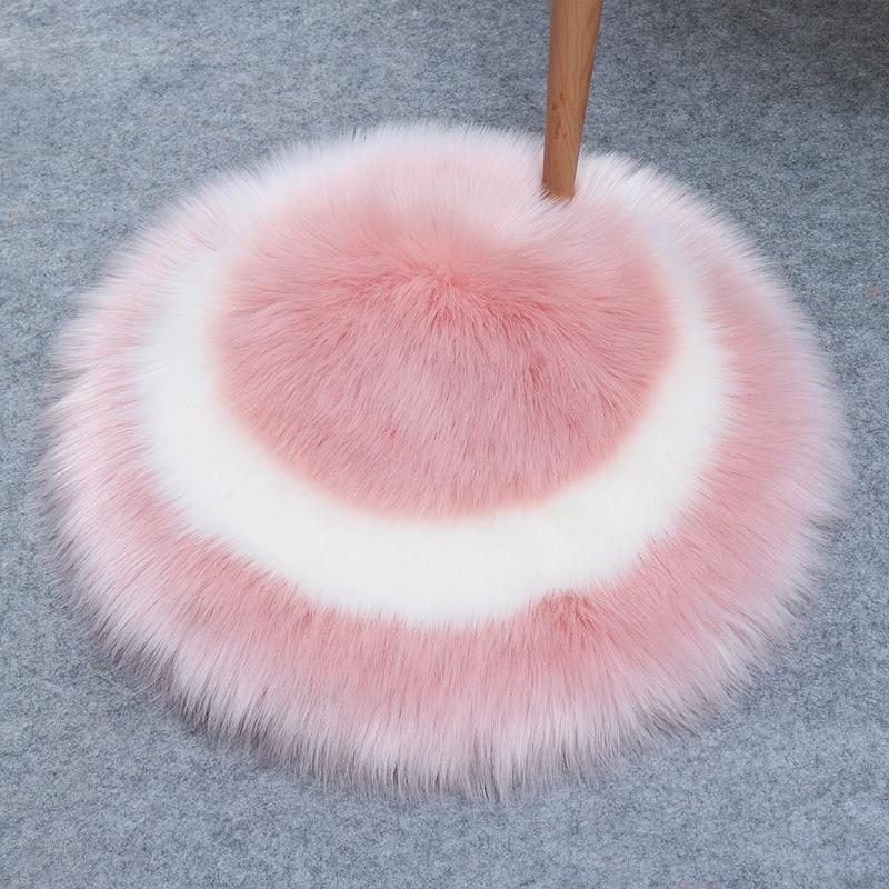 Tappeto soffice tappeti per soggiorno decorazioni tappeti di pelliccia faux tappeti lunghi tappeti di peluche da camera da letto arredamento shaggy area rotonda tappeto antiscivolo