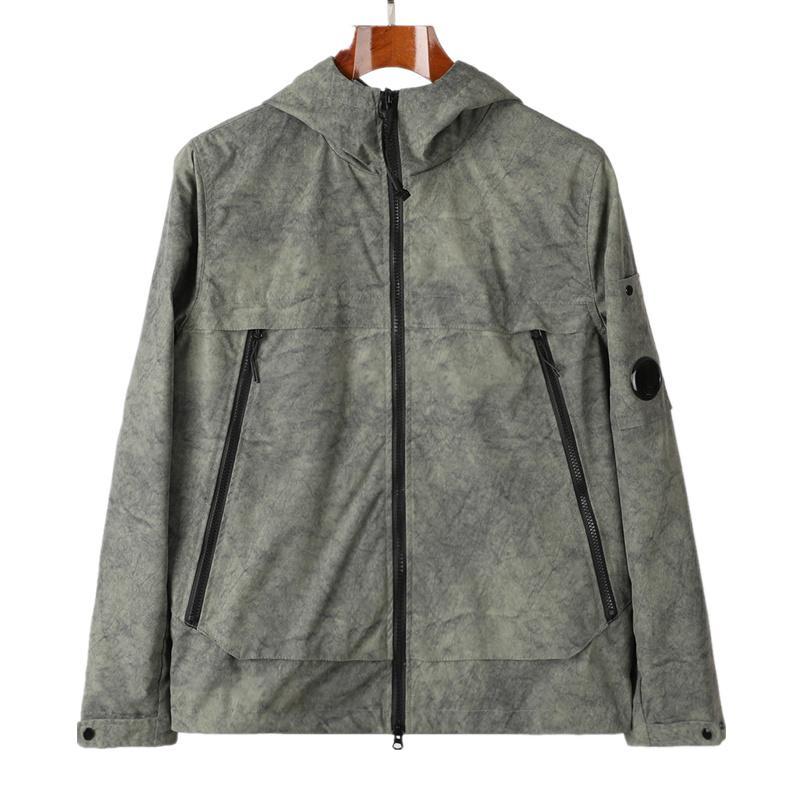 CPTOPSTONEY 2021 KONNG TONNG 봄과 가을 방수 코트 윈드 브레이커 남성용 빅 포켓 두건이 된 자켓 코트