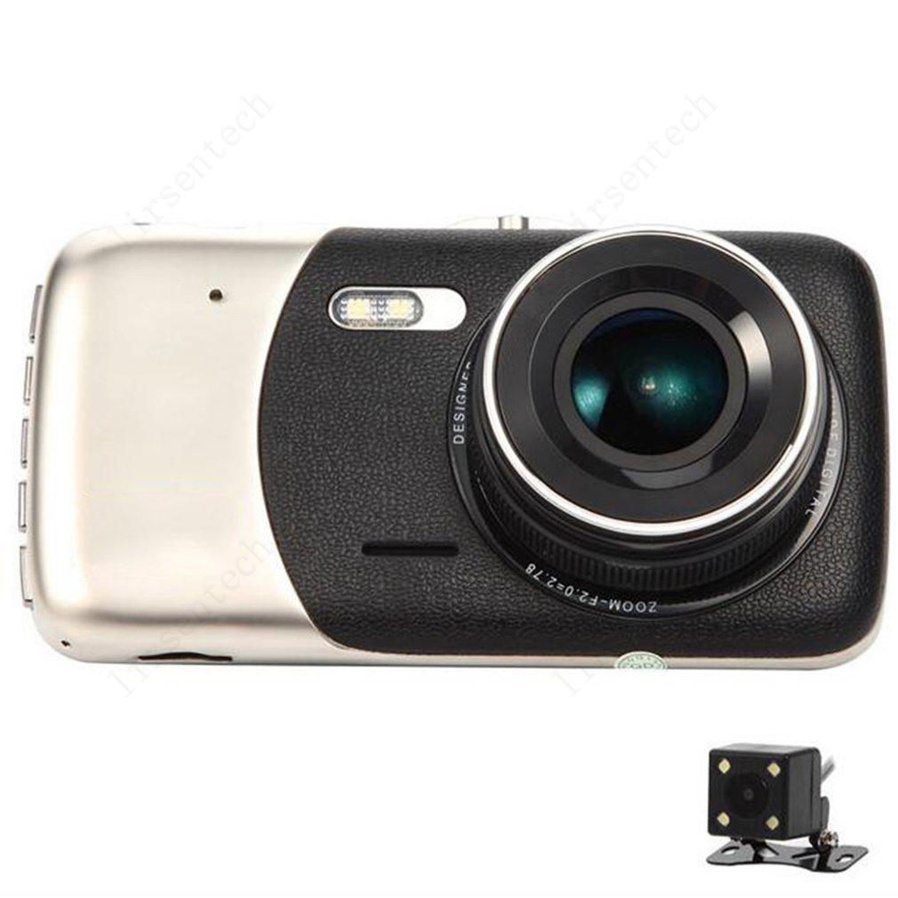 Full HD 1080P 4 pulgadas de grabadora de conducción Cámara DVR cámara DUAL Lente Video Vision Auto Dash Cam Alta Calidad
