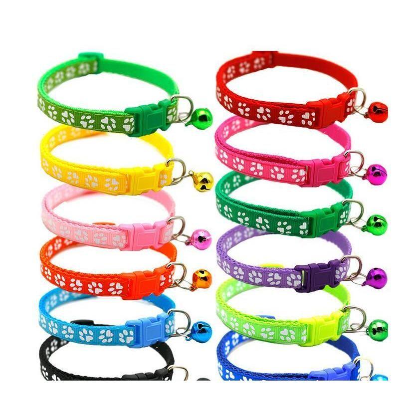 Easy Wear Cat Dog Collar With Bell Adjustable Buckle Dog Collar Cat Puppy Pet Supplies Cat Dog Accessories jllmWq insyard