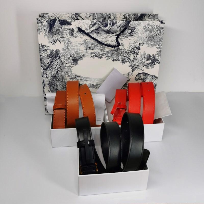 럭셔리 레저 여자 디자이너 벨트 편지 버클 오블 리크 프린트 패션 벨트 여성 7 색 Cinturones 드 Diseño Mujeres 폭 2.8cm 상자