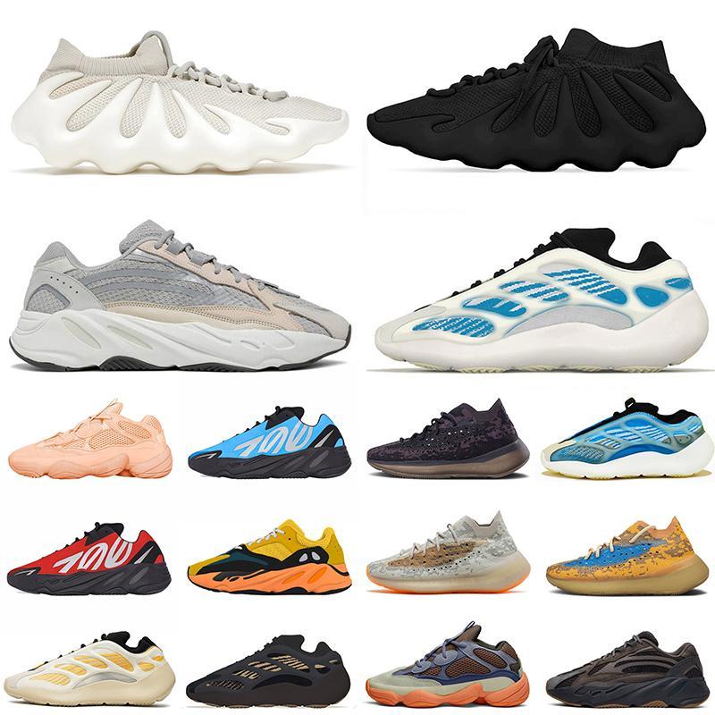 2021 Chegada Kanye 450 Mens Mulheres Correndo Tudo Tudo Preto Nuvem Branco Homens Mulheres Brilhantes BluesaffLower Desligado Esportes Sneakers Trainers Ao Ar Livre Jogging Caminhada Tamanho 36-46