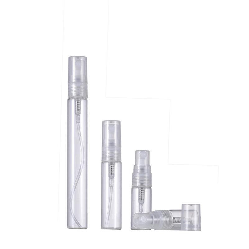 2ml 3ml 5ml 10ml Clear Glass Perfume Bottle Empty Travel Parfum Spray Bottles For Frangrance Sample