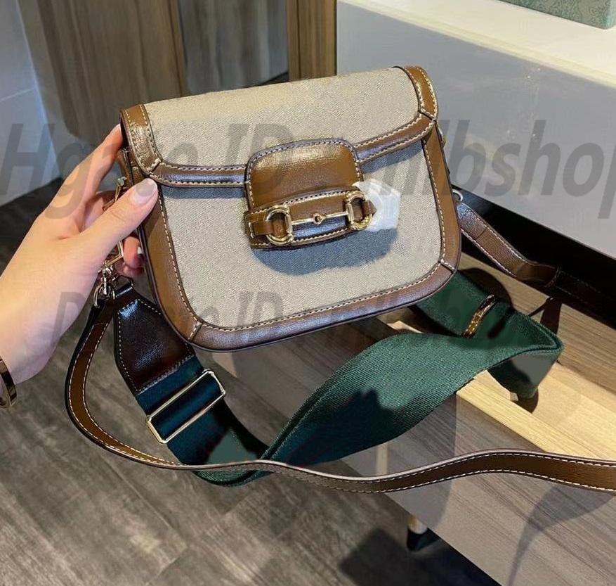 Horsbit Çift Omuz Askıları Eyer Çanta Retro 1955 Luxurys Tasarımcılar G Yüksek Kalite Moda Bayan Crossbody Çanta Cüzdan Bayanlar Çanta Çanta 2021 Çapraz Vücut