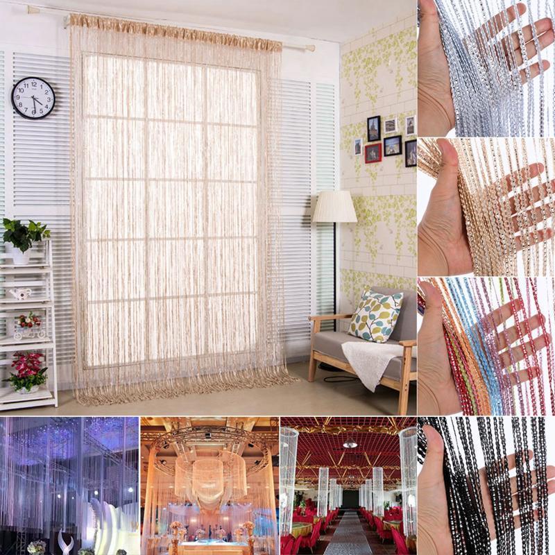 Hanging Beaded Curtain String Door Window Curtains Tassel Screen Panel