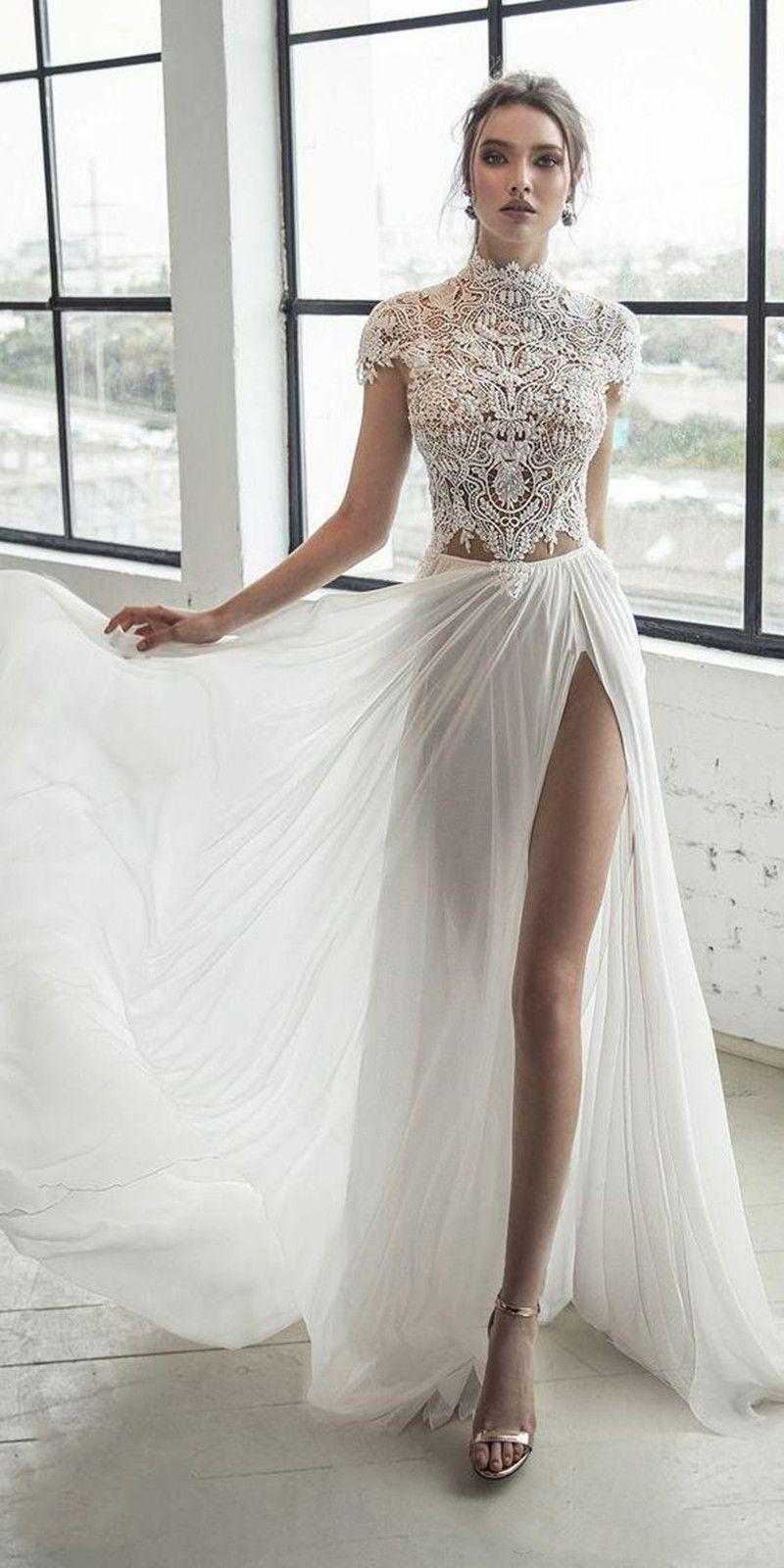 Кружевные вечерние платья Высокая шейная шапка рукав щель абити длинные платья выпускного вечера Vestidos a Line Princess Country платье плюс размер