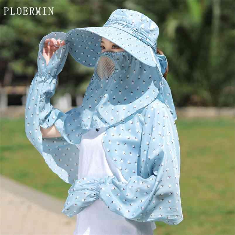 Moda Feminina Dobrável do Dobrável Chapéu De Brim Grande Pescoço Omnibearing Proteção UV Verão Pesca Pescador Praia 210608