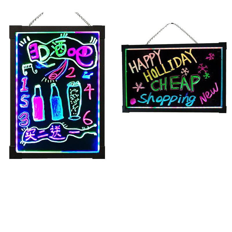 LED Neon Sign Writing Message Board Board Drawing Boulde, ilumina el mensaje de la caja intermitente, Borreable Boardy Arts Doodle Tableros, para el Día de los Niños / Tienda / Escuela / Cafetería (40 * 30 cm)