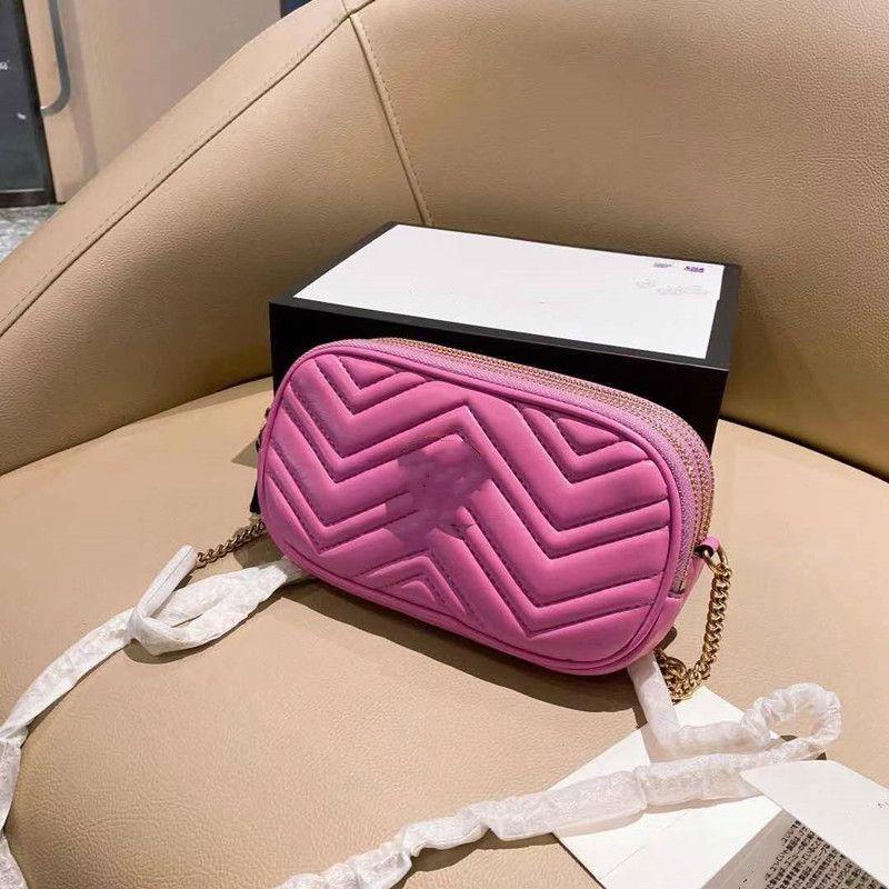 Классический роскошный дизайнер сумка натуральная кожа Высокое качество Женщины Дамы Мода Marmont Сумка Кожаная Сумка Crossbody Сумка Кошелек Рюкзак Tote